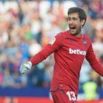 Ofensiva total por Aitor Fernández, portero del Levante