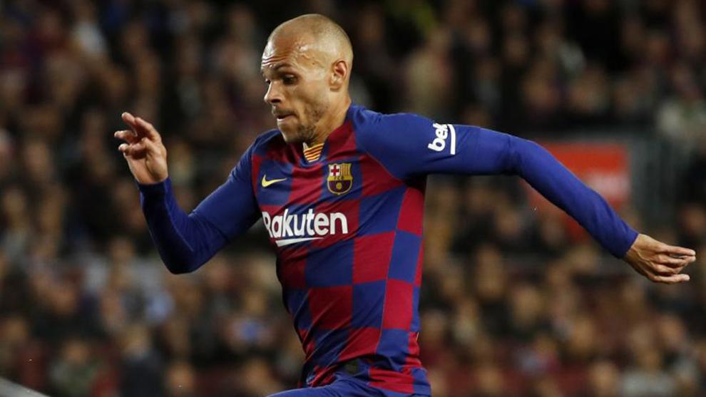 El Barça quiere darle puerta a Martin Braithwaite