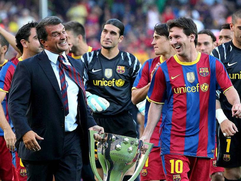 Laporta quiere renovar a Messi