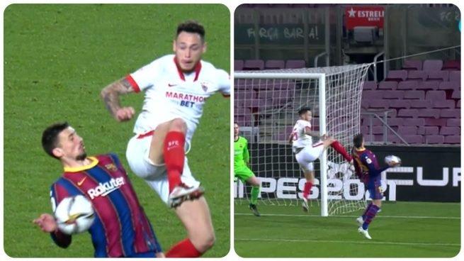 El Sevilla sufre un atraco monumental en el Camp Nou