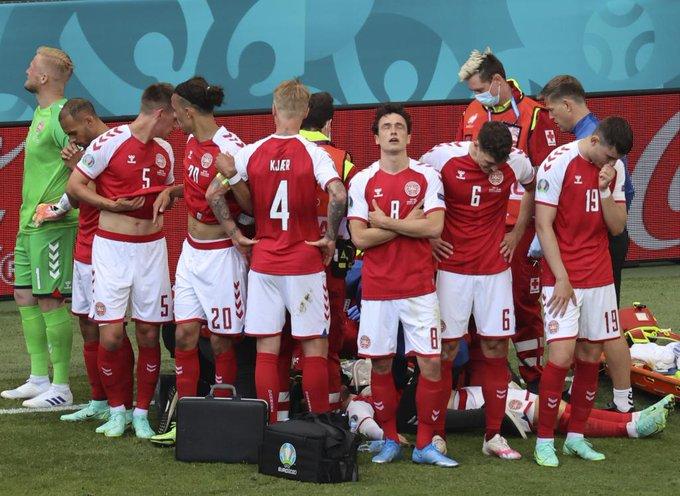 Se suspende el Dinamarca-Finlandia tras desplomarse Eriksen sobre el campo