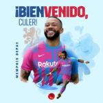 Oficial: Memphis Depay ya es jugador del FC Barcelona