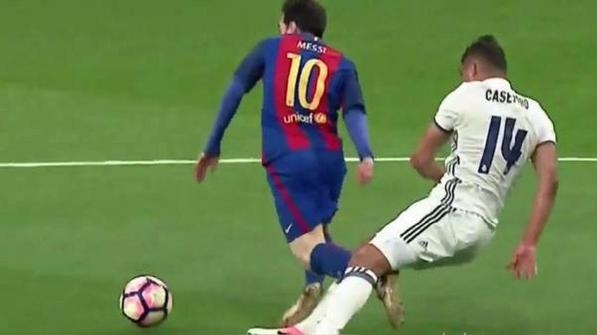 casemiro caza a Messi
